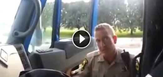 trucker pulls over cop