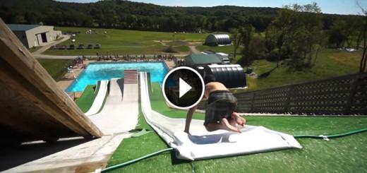 slip`n slide pool party