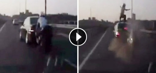 acrobatic motorbike accident