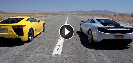 bugatti veyron vs lamborghini-aventador vs lexus lfa vs mclaren