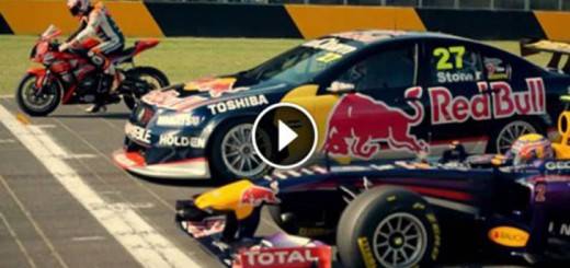 f1 car vs supercar vs motorbike