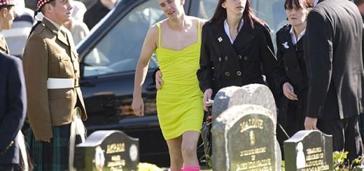 man funeral dress