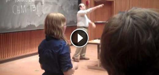 student acts like professor