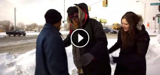 gave homeless coat