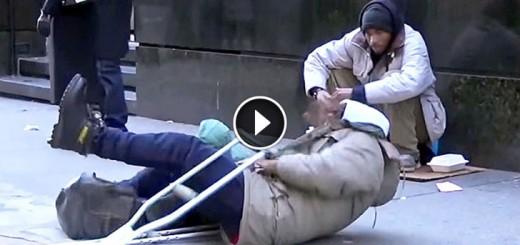 Homeless Man Fell Down