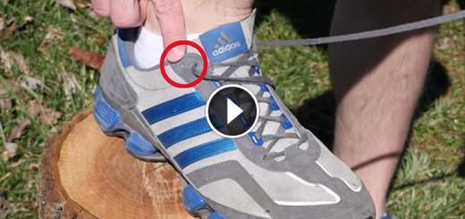 shoe hole trick