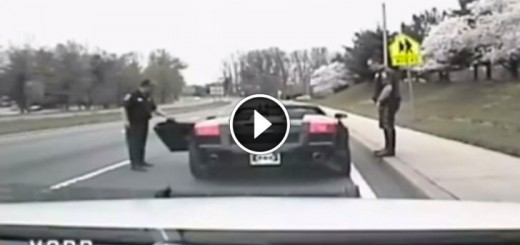 police pull over sports car
