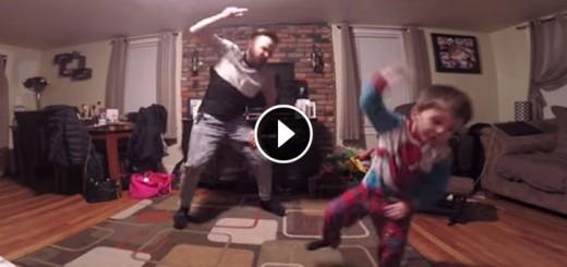father son dance alone home
