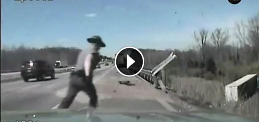 ohio trooper saves driver life