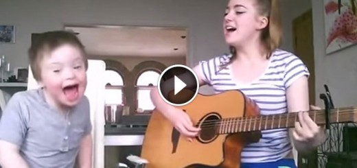 boy down syndrome sister duet