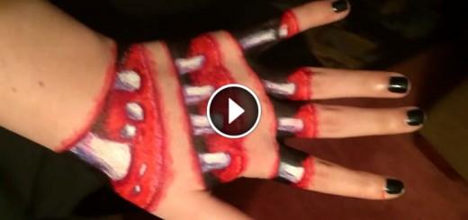 halloween hand illusion
