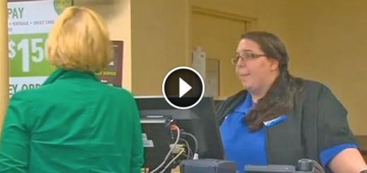 woman scam cashier