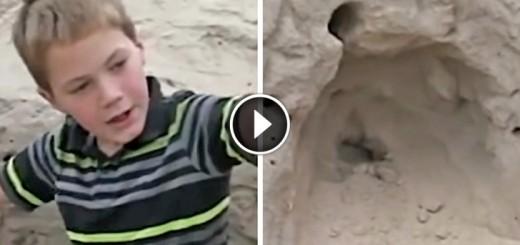 boy saved girl sand dune
