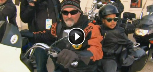 bikers protect boy school main