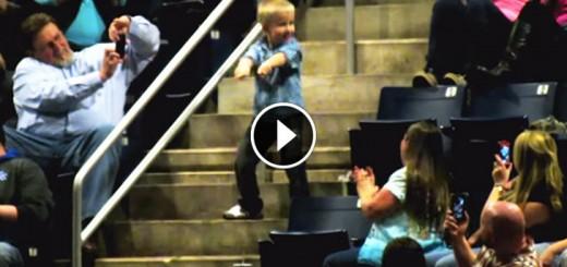 kid dancing concert